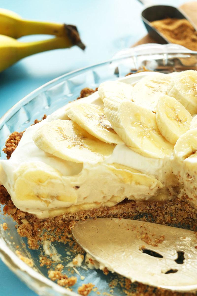 Banana vegan pie