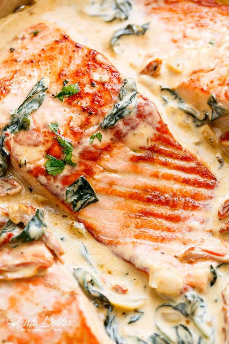 Creamy Garlic Butter Tuscan Salmon