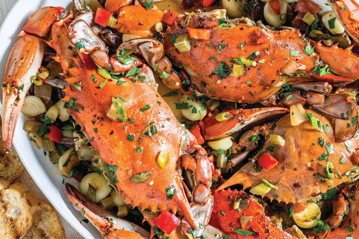 Oven-Baked Garlic Crabs