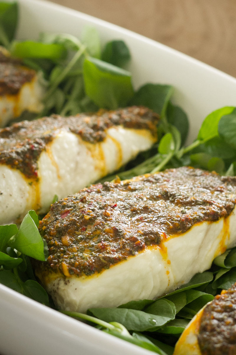 Slow Roasted Halibut with Chermoula