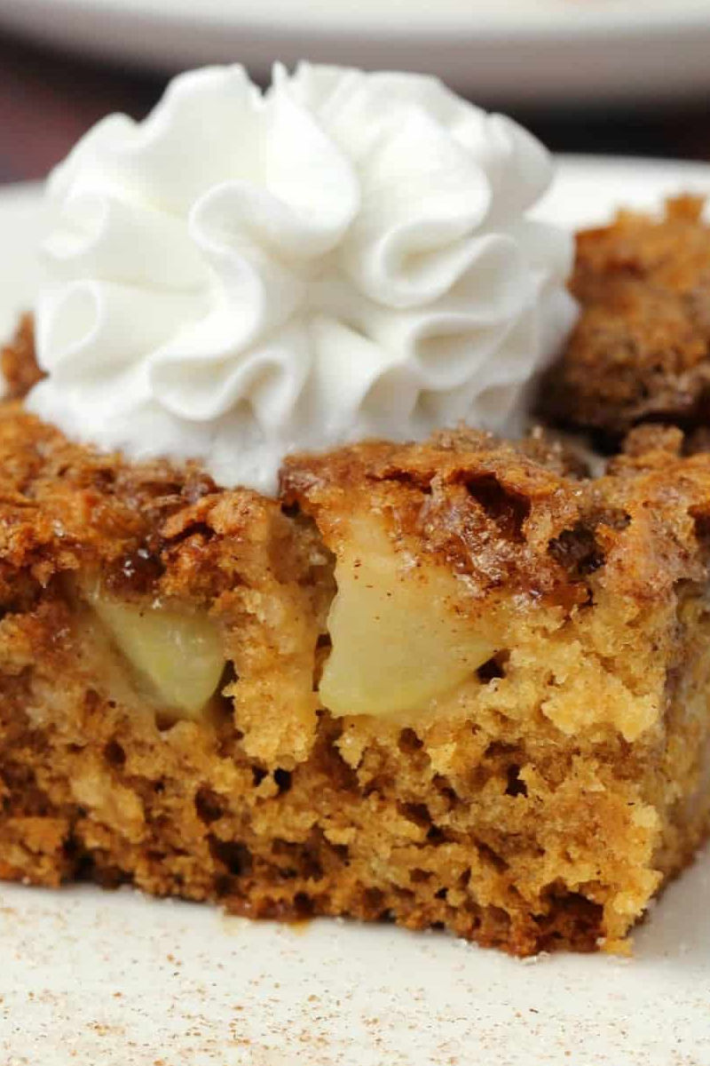 Vegan apple cake with a cinnamon
